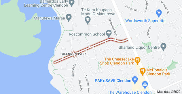 Location of Burundi Avenue