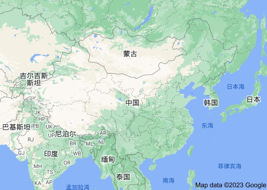 Location of 中华人民共和国
