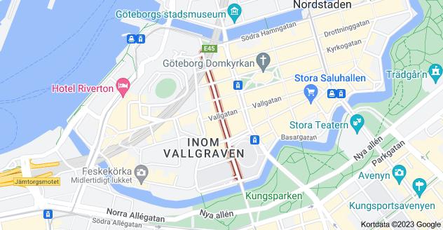 Kort over Magasinsgatan, Göteborg, Sverige
