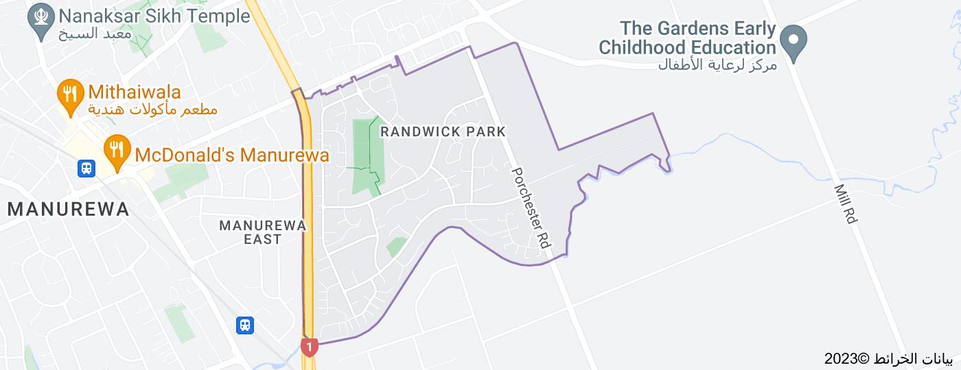 Location of Randwick Park