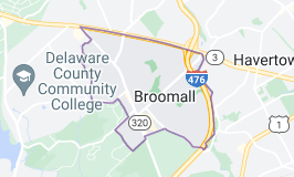 Map of Broomall