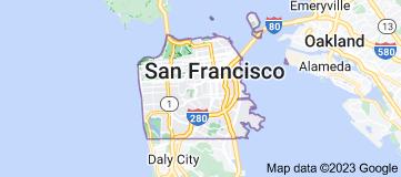 Location of San Francisco