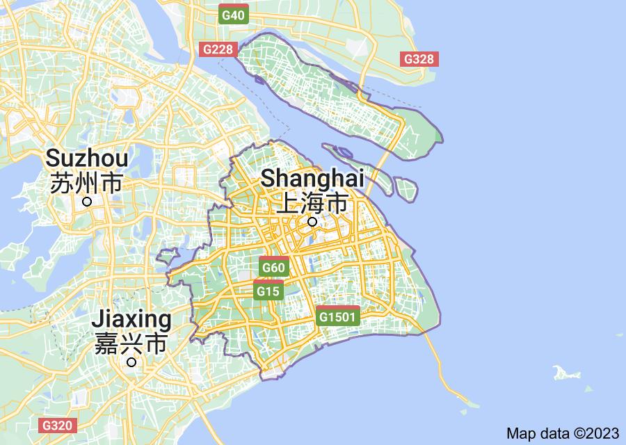 Location of Shanghai