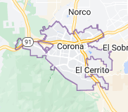 Map of Corona, California