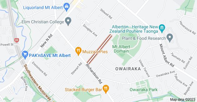 Location of Grande Avenue