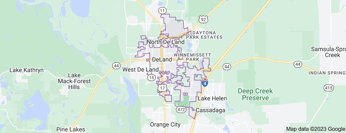 Location of DeLand