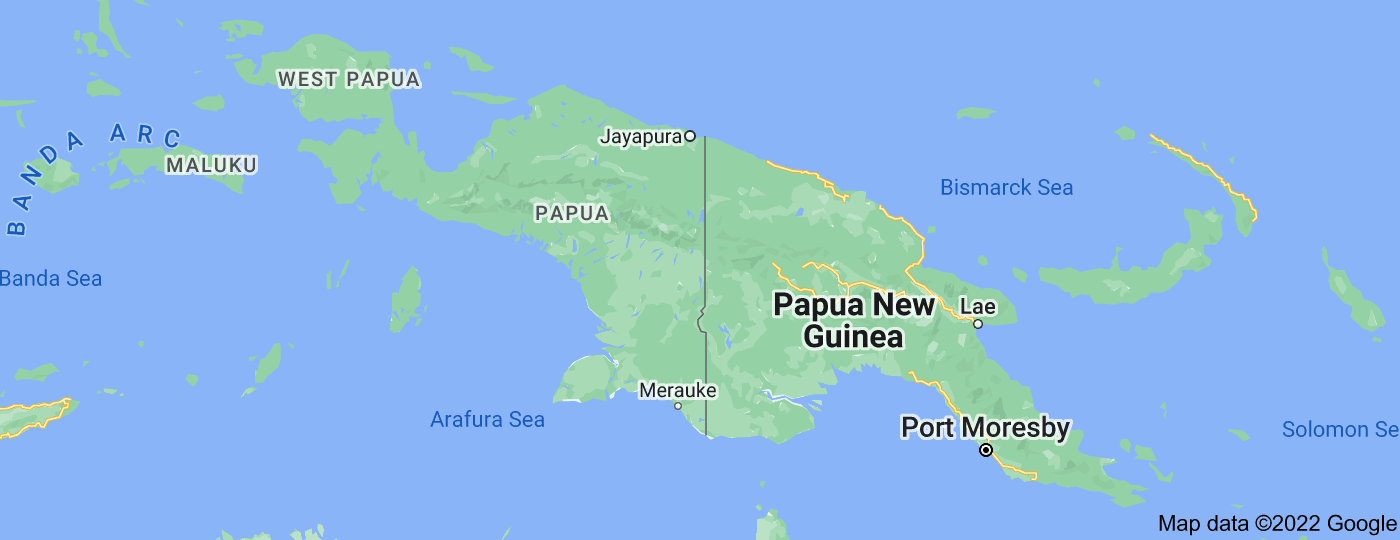 Location of New Guinea
