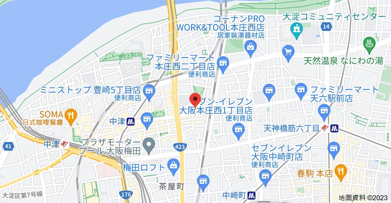 日本〒531-0072 Ōsaka-fu, Ōsaka-shi, Kita-ku, Toyosaki, 4 Chome−2−16 第2メゾン北梅田地圖