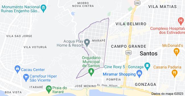 Mapa de Marapé, Santos - SP