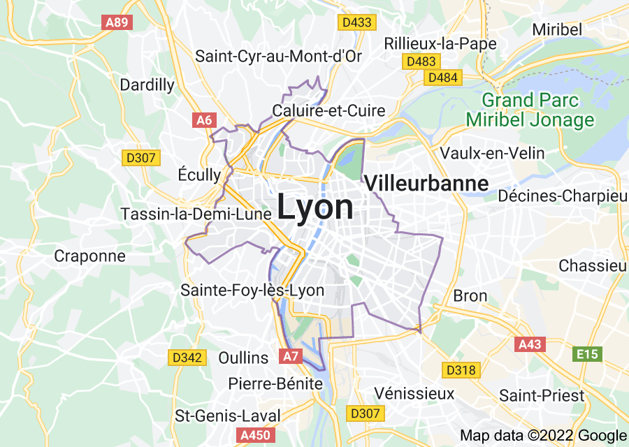Location of Lyon