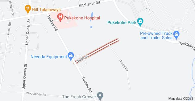 Location of Webb Street