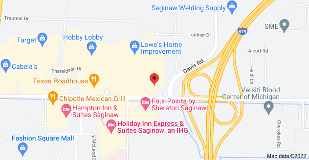 Map of 2268 Tittabawassee Rd, Saginaw, MI 48604