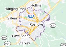 Map of Roanoke, Virginia