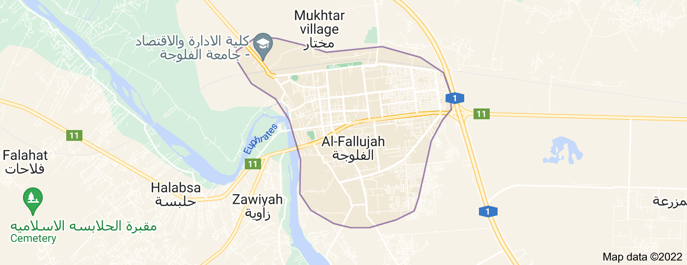 Location of Fallujah