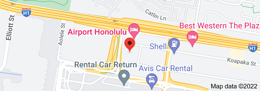 Map of Honolulu Airport Flower Shop