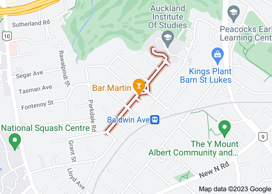 Location of Martin Avenue
