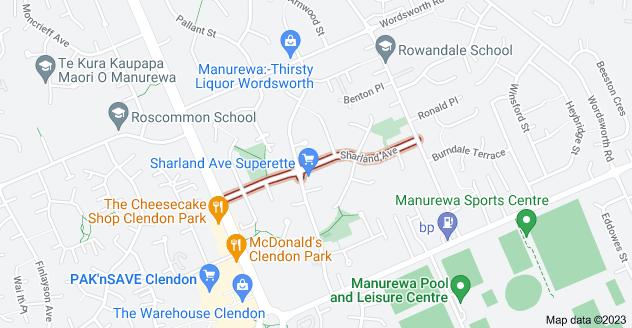 Location of Sharland Avenue