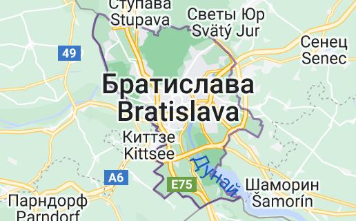 Братислава: карта