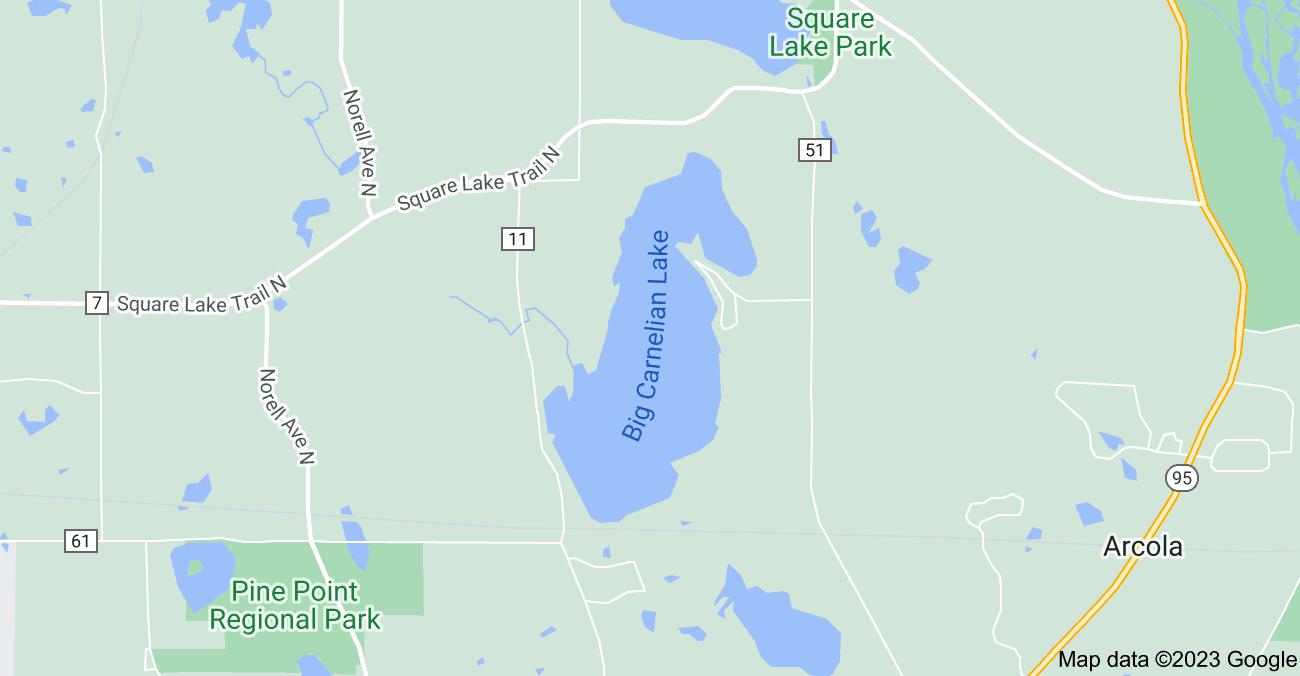 Map of Big Carnelian Lake, May Township, MN 55082