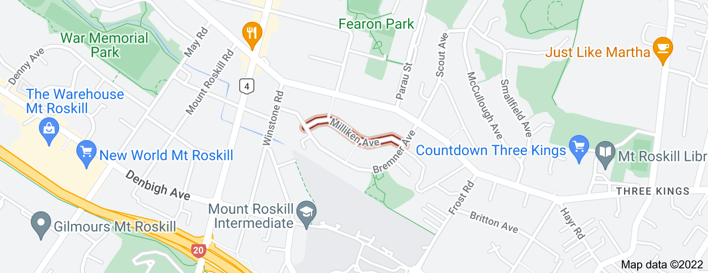 Location of Milliken Avenue