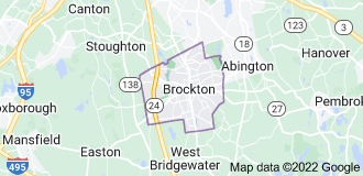 Map of Brockton, Massachusetts