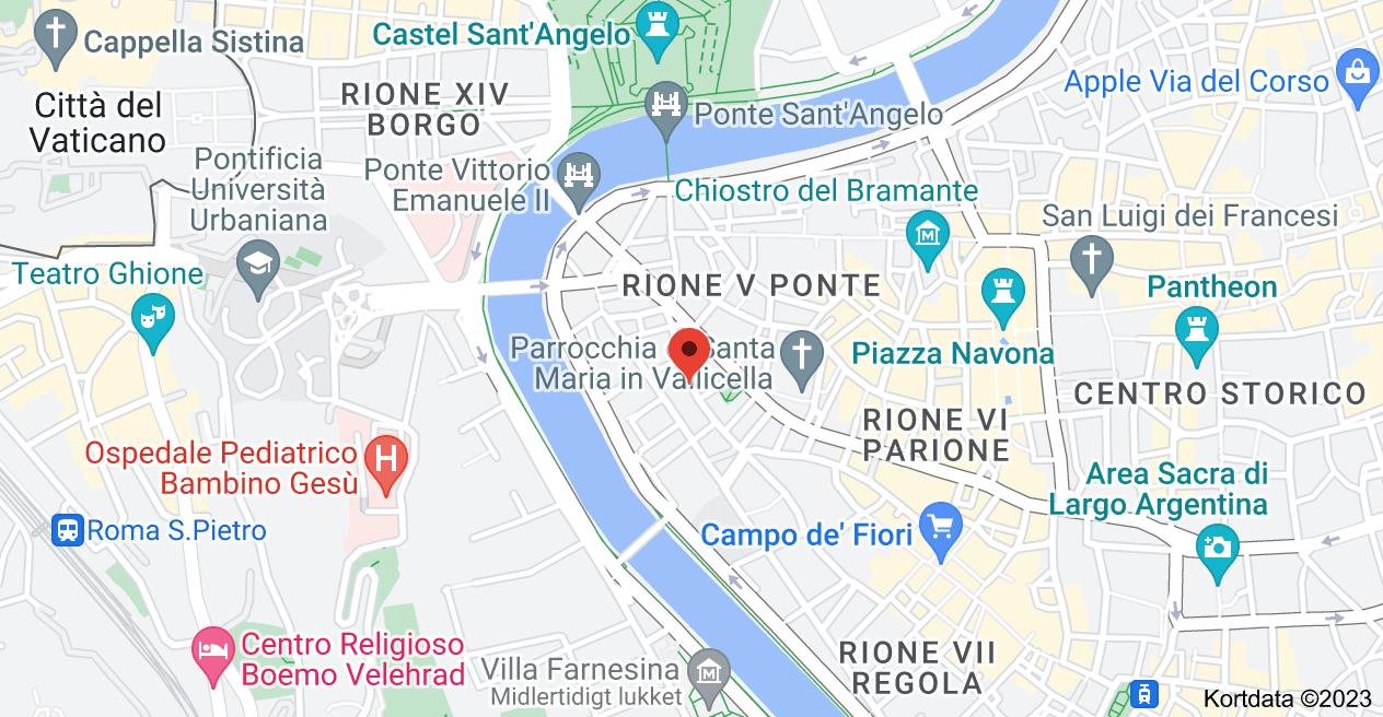 Kort over Via dei Banchi Vecchi, 30, 00186 Roma RM, Italien