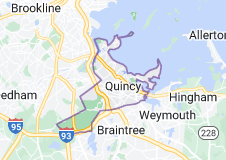 Map of Quincy, Massachusetts