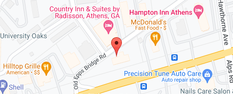 Map of the business location