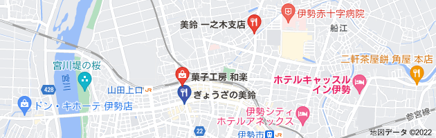 美鈴餃子のお店の地図