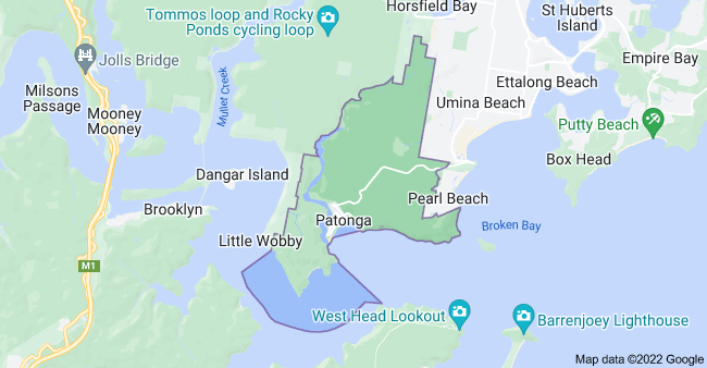 Map of Patonga NSW 2256