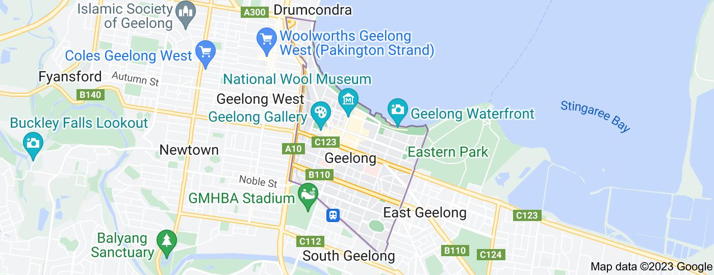 Location of Geelong