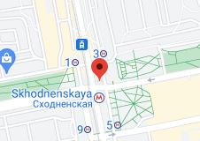 Location of Skhodnenskaya