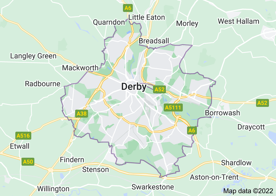 Location of Derby