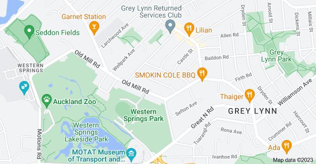 Location of Sherwood Avenue