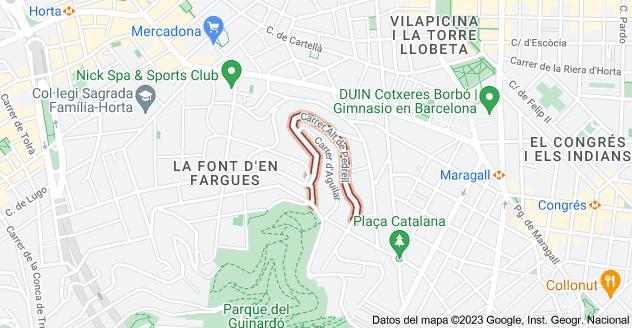 Mapa de Carrer Alt de Pedrell, 08032 Barcelona, España
