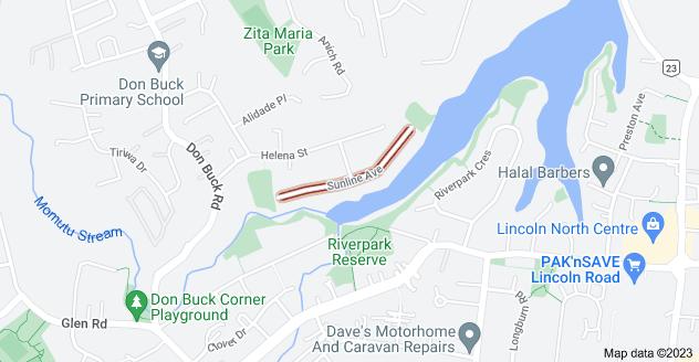 Location of Sunline Avenue