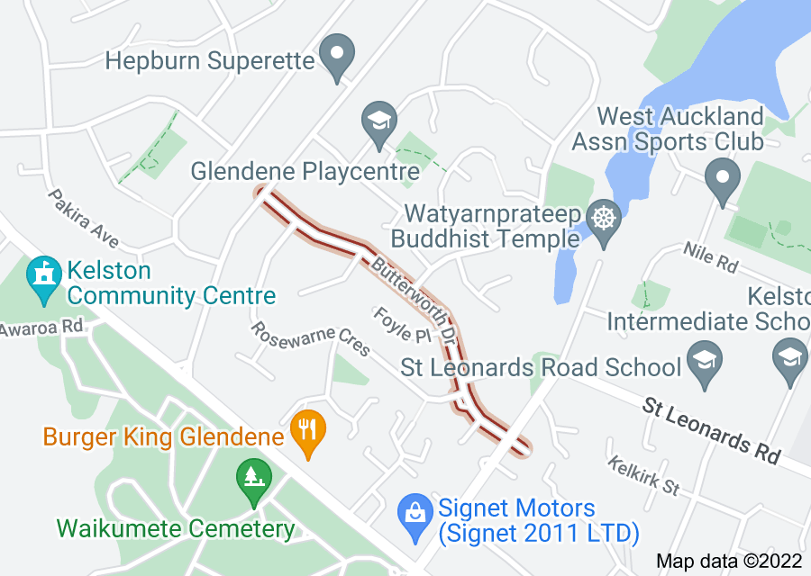 Location of Butterworth Drive