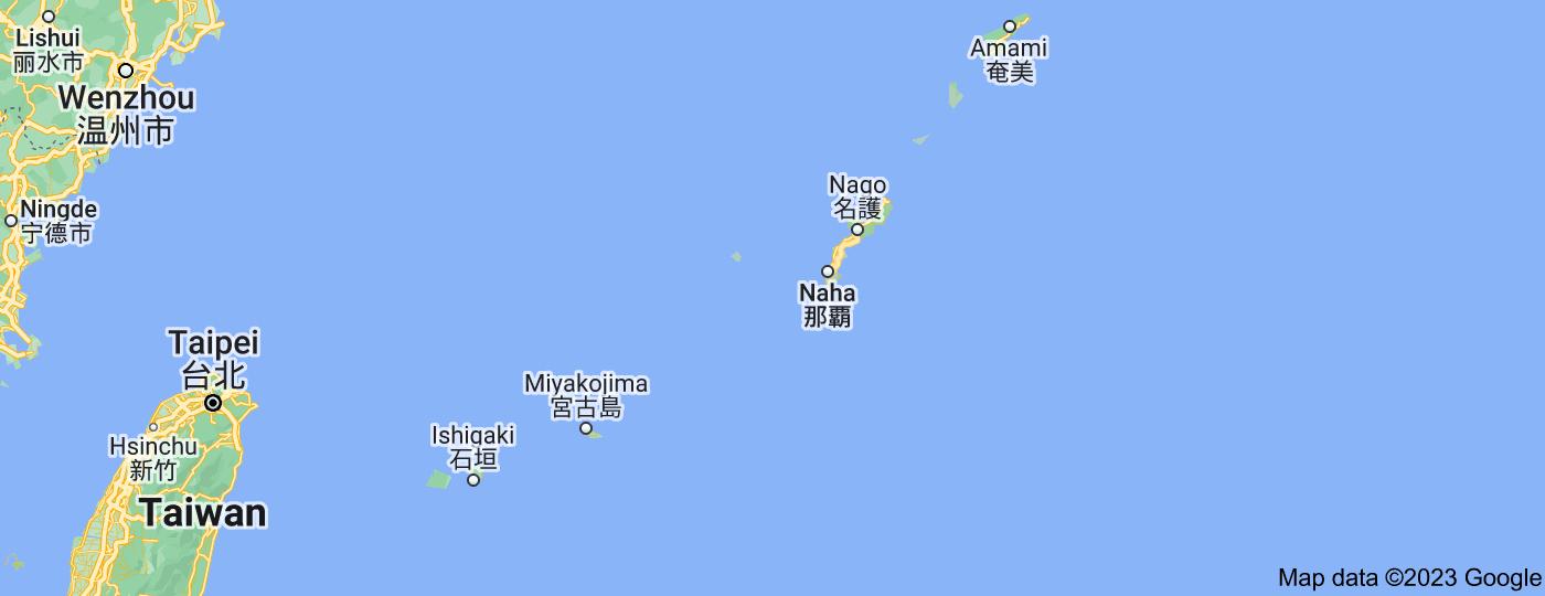 Location of Okinawa Prefecture