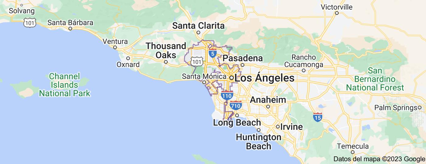 Location of Los Ángeles