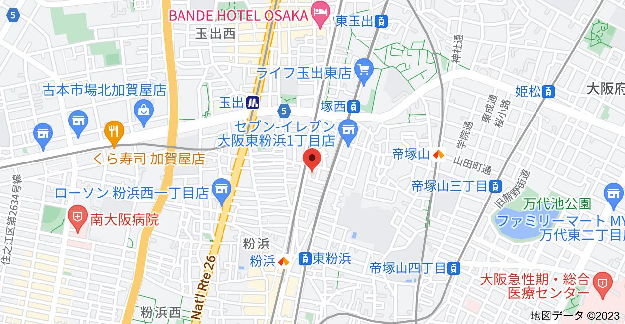 〒558-0051 大阪府大阪市住吉区東粉浜2丁目14−7の地図