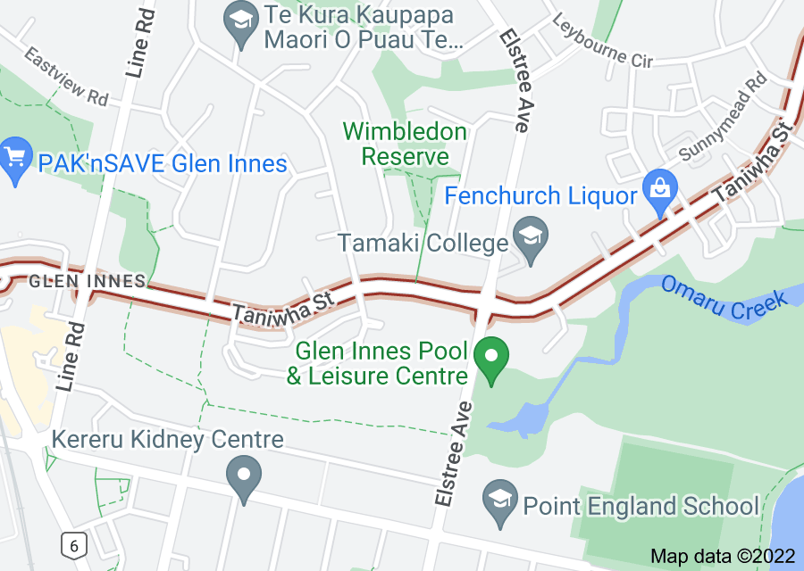 Location of Taniwha Street