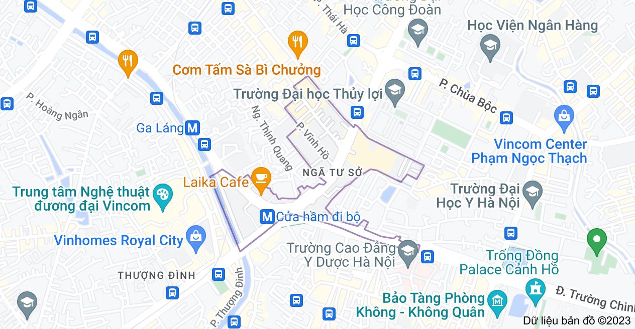Bản đồ của Ngã Tư Sở, Đống Đa, Hà Nội