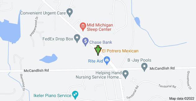 Map of 8296 S Saginaw St, Grand Blanc, MI 48439