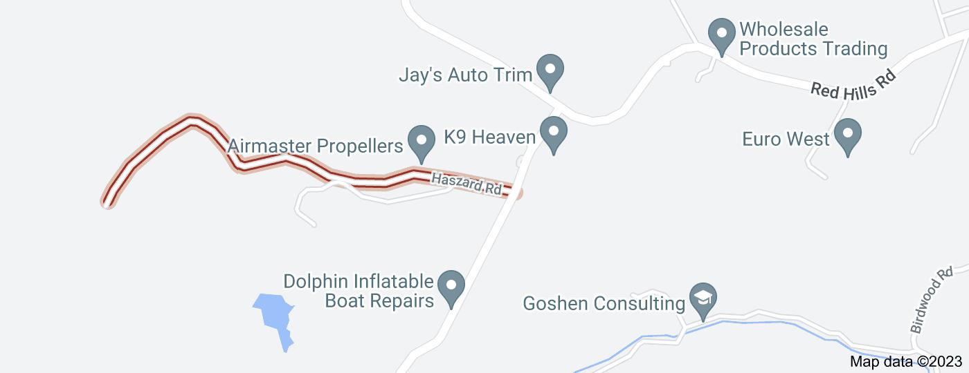 Location of Haszard Road