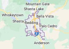Map of Redding, California