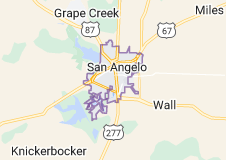 Map of San Angelo, Texas