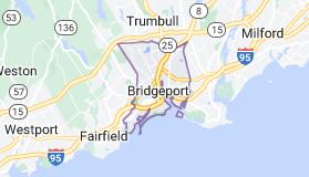Map of Bridgeport, Connecticut