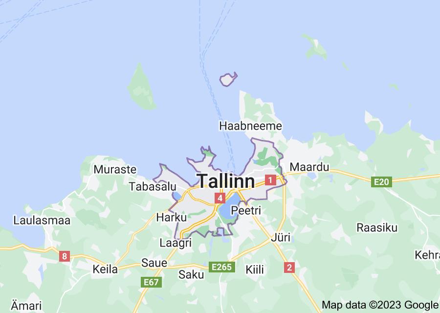 Location of Tallinn