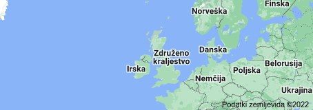 Location of Združeno kraljestvo Velike Britanije in Severne Irske
