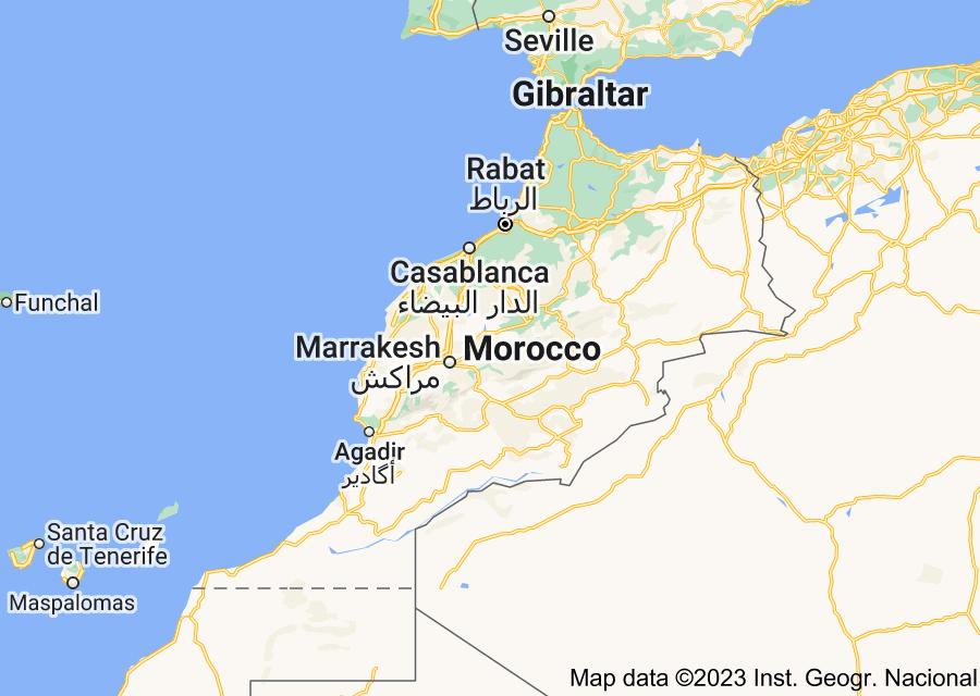 Location of Morocco